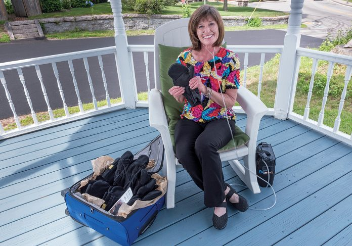 SOFT SELL: Marita Loffredo, founder of Phalang-Ease Mittens, came up with the idea for the gloves due to her own challenges with rheumatoid arthritis. / PBN FILE PHOTO/MICHAEL SALERNO