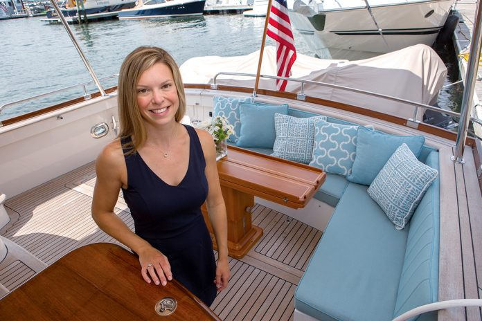 STEADY GROWTH: Ally Maloney, owner of Maloney Interiors, has been designing interiors for yachts and some coastal residences since 2013. She says her business has grown steadily over the past four years. / PBN FILE PHOTO/KATE WHITNEY LUCEY