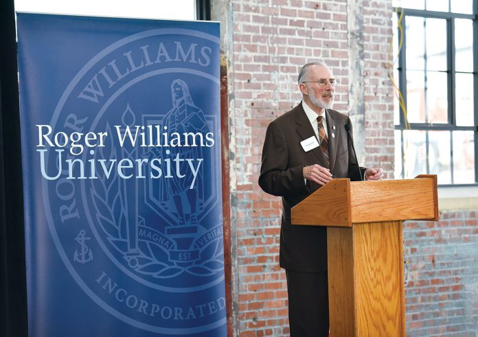 ROGER WILLIAMS UNIVERSITY President Donald J. Farish announced that he will retire in June 2019. / COURTESY ROGER WILLIAMS UNIVERSITY