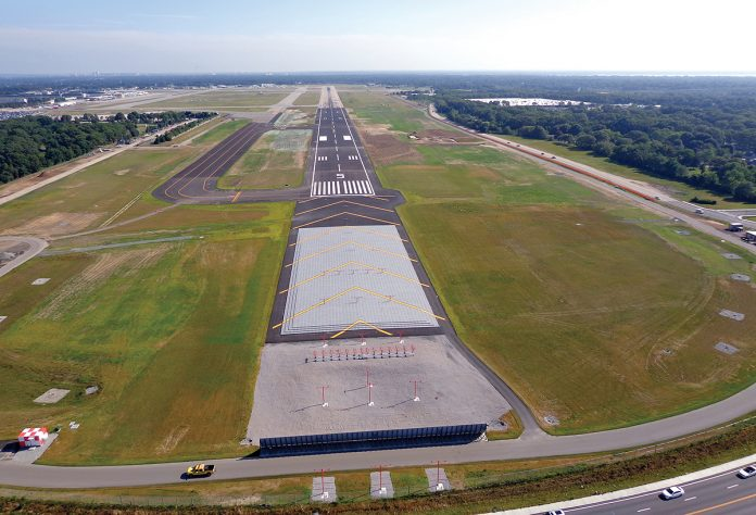 TRAFFIC AND CARGO both increased in March at T.F. Green Airport, as new discount carriers continued to have an impact on activity there and cargo traffic grew due to Amazon.com opening a fulfillment center in Fall River. / COURTESY R.I. AIRPORT CORP.