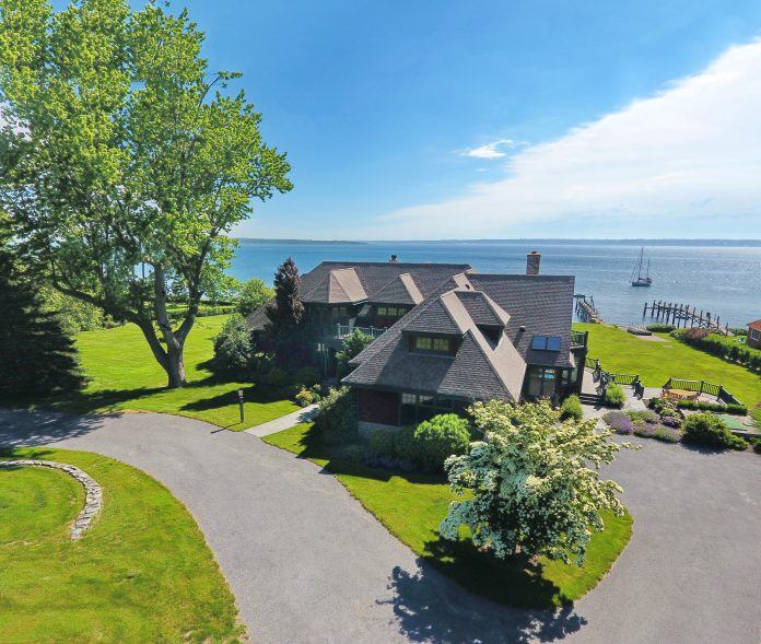 A WATERFRONT HOME at 5 Court St. in Jamestown sold recently for $4.2 million. / COURTESY LILA DELMAN REAL ESTATE