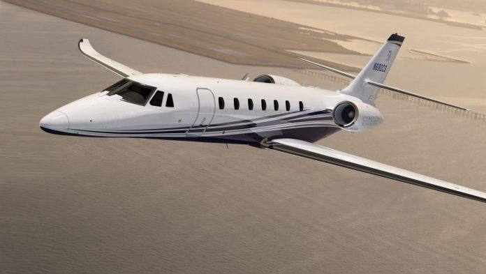 TEXTRON was the sole Rhode Island-headquartered employer to rank on the Forbes' 2018 Best Large Employer list this year at No. 495. Five midsize employers from Rhode Island also ranked this year. Above, a Citation Sovereign + from the Cessna branch of Textron Inc. / COURTESY TEXTRON AVIATION