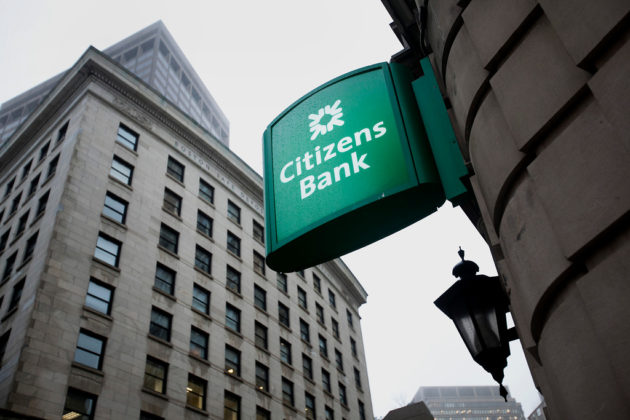 PROVIDENCE-based Citizens Financial Group, the holding company for Citizens Bank, increased the holdings of its wealth management clients in Bank of America by 484 percent in the last quarter. The two financial institutions are the No. 1 and No. 2 largest consumer banks in Rhode Island based in local deposits. / BLOOMBERG NEWS FILE PHOTO/KELVIN MA