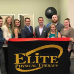 ELITE PHYSICAL THERAPY recently opened a new location at Chapel View in Cranston. From left, Elite Physical Therapy therapists and staff Eric Martin; Sarah Lundin; Julia Peterson; Jason Harvey, director of rehabilitation in Cranston; co-owner Michael Nula; owner Tyler Reid; Andrea Hetzler; and Felicia Cooke and Jenilee Ramos, assistant directors in Cranston. / COURTESY ELITE PHYSICAL THERAPY