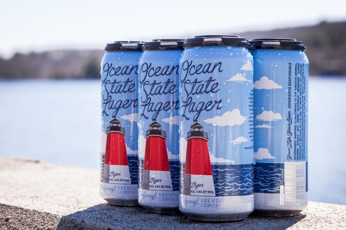 A PORTION OF the profits from Ocean State Lager by Foolproof Brewing will go to benefit aquaculture studies at the University of Rhode Island. / COURTESY FOOLPROOF BREWING
