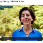 GOV. GINA M. RAIMONDO announced on Tuesday that she was running for re-election as governor through a video clip posted on ginaraimondo.com. / COURTESY FRIENDS OF GINA RAIMONDO