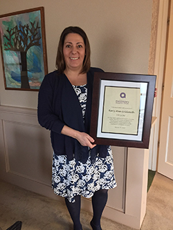 KERRY ANN GOLDSMITH, executive director of Devereux Advanced Behavioral Health's Massachusetts and Rhode Island office, recently received the Association of Children's Residential Centers' Fellow award during ACRC's annual conference in Boston. / COURTESY DEVEREUX ADVANCED BEHAVIORAL HEALTH