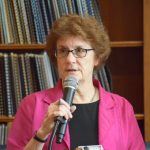 """ECONOMIC PROGRESS INSTITUTE Policy Director Linda Katz presents the EPI's """"Medicaid Matters in Rhode Island 2018"""" report at the Statehouse. / COURTESY EPI"""