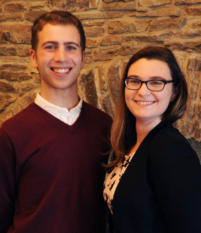 UNIVERSITY OF RHODE ISLAND students Max Zavell and Erin Tully were awarded the Ernest F. Hollings Scholarship from the National Oceanic and Atmospheric Administration. / COURTESY URI/RANDY OSGA