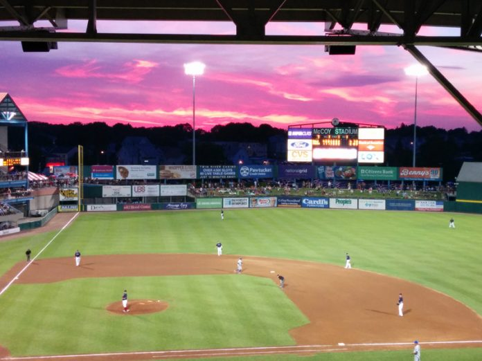 THE PAWTUCKET RED SOX saw 409,960 people attend its games at McCoy Stadium in 2017. / COURTESY PAWTUCKET RED SOX/KELLY O'CONNOR