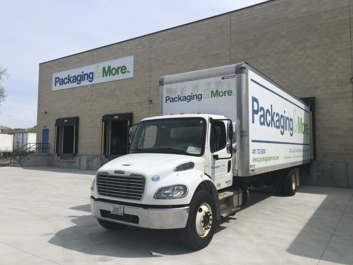 PACKAGING & MORE, which provides food service packaging to hospitality industry clients in southern New England, recently completed a 20,000-square-foot expansion to its warehouse in Central Falls. / COURTESY PACKAGING & MORE