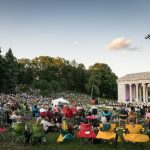 THE CROWD GATHERS before the start of last year's Rhode Island Foundation Presents RWP Pops with the RI Philharmonic Orchestra at the Roger Williams Park Temple to Music in Providence. This year's concert is Aug. 10. / COURTESY RHODE ISLAND PHILHARMONIC ORCHESTRA/ROB DAVIDSON PHOTOGRAPHY