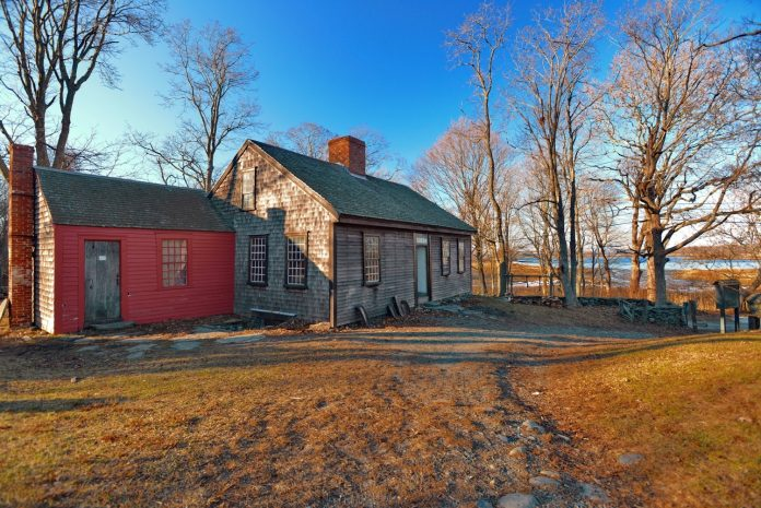 THE COGGESHALL FARM MUSEUM'S 18th-century farmhouse is slated to undergo a roof restoration this year, using funds from a $50,000 Carter Family Charitable Trust operations grant it recently received. / COURTESY COGGESHALL FARM MUSEUM/JEFF FOX