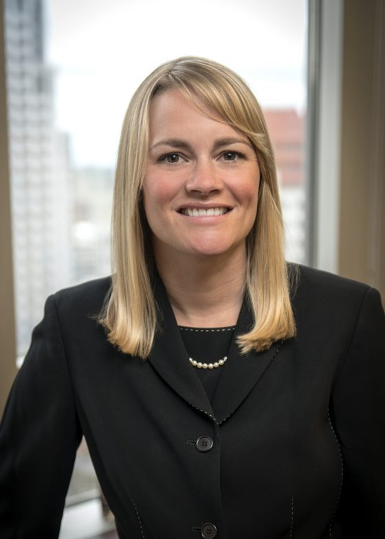 JESSICA THAYER has been hired by Starkweather & Shepley Insurance Brokerage as group leader of the Financial Services Risk Solutions Practice. / COURTESY STARKWEATHER & SHEPLEY