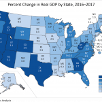 REAL GDP in Rhode Island increased by 1.6 percent in 2017. / COURTESY BEA