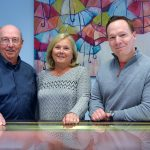 FAMILY-RUN: Joe Audette, left, owner and president of M.R.T. Jewelers, runs his business with his wife, Janice, and son ­David, vice president. The family-run business offers jewelry repair and sales. / COURTESY M.R.T. JEWELERS