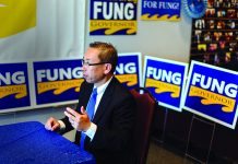 LOOKING TO MAKE A CHANGE: Cranston Mayor and gubernatorial candidate Allan W. Fung is looking to reverse the outcome of the election four years ago, when he lost to Gina M. Raimondo for the top Rhode Island office. / PBN FILE PHOTO/RUPERT WHITELEY