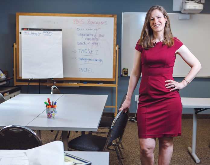Margaret M. Teller learned early on that a child care benefit affects the workplace when her father, Dave McDonald, founded The Children's Workshop in 1990. The company now has 19 schools and has grown revenue 30 percent since she took over in 2014. / PBN FILE PHOTO/RUPERT WHITELEY