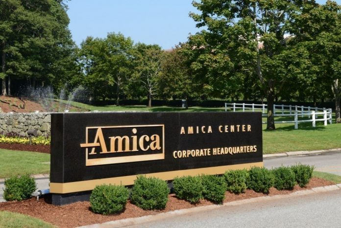 AMICA MUTUAL INSURANCE CO. ranked No. 1 for customer satisfaction in New England on the J.D. Power & Associates 2018 U.S. Auto Insurance study. / COURTESY AMICA MUTUAL INSURANCE CO.
