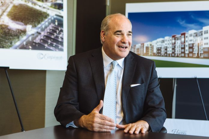 MAKING A DIFFERENCE: Carpionato Group President and Chief Operating Office Kelly Coates details the many investments the company has made and is still making in Rhode Island, including in Cranston's Chapel View and in the former Interstate 195 land in Providence. / PBN FILE PHOTO/RUPERT WHITELEY