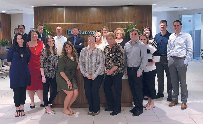 ENGAGING: DarrowEverett employees at the company's Providence office, where the culture encourages employee engagement. / COURTESY DARROWEVERETT LLP