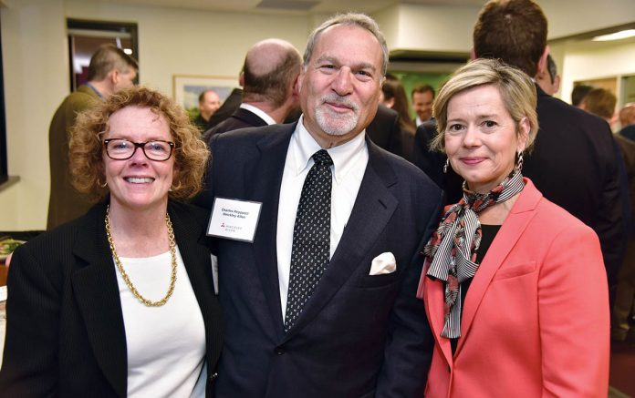 SAGE COUNSEL: From left, Hinckley Allen Counsel Priscilla Kimball, Charles Reppucci, retired, and partner Robin Main.
