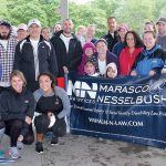 WALKING THE WALK: Employees from Marasco & Nesselbush team up for a recent charity walk. / COURTESY MARASCO & NESSELBUSH LLP