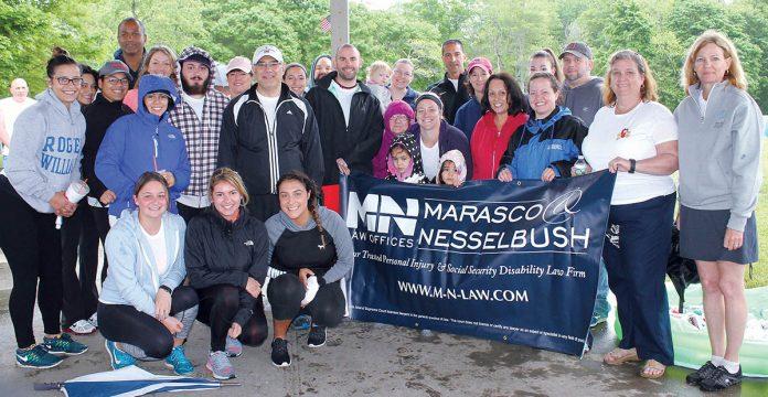 WALKING THE WALK: Employees from Marasco & Nesselbush team up for a recent charity walk. / COURTESY MARASCO & NESSELBUSH LLP