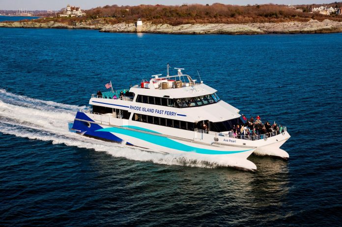 RHODE ISLAND FAST FERRY AND NEW SHOREHAM each filed post-hearing memoranda with the R.I. Division of Public Utilities and Carriers over the proposed docking matter in Old Harbor on Block Island./ COURTESY RHODE ISLAND FAST FERRY