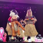 GUEST MODELS including Pawtucket Mayor Donald R. Grebien and Pawtucket Red Sox mascot Paws wear themed bras for auction during the Bras for a Cause fundraiser for the Gloria Gemma Breast Cancer Resource Foundation May 19. / COURTESY PAWTUCKET MAYOR'S OFFICE