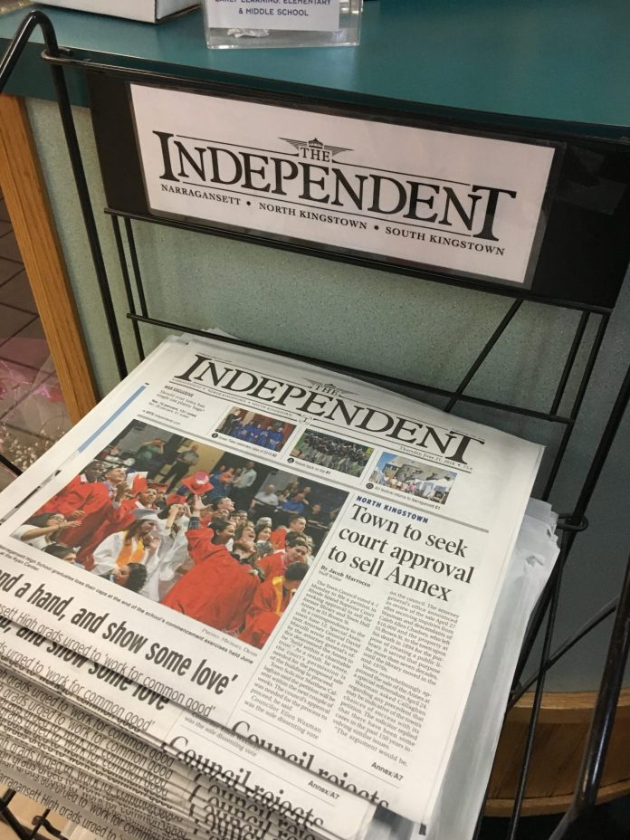 THE INDEPENDENT, a weekly newspaper covering three towns in Washington County, and South County Life magazine, are being acquired by Rhode Island Suburban Newspapers Operations Inc. and the group Southern Rhode Island Newspapers from GateHouse Media Inc., the paper announced Thursday./PBN PHOTO JAMES BESSETTE