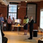 MAYOR JORGE O. ELORZA speaks at the DESIGNxRI Providence Design Catalyst. / COURTESY DESIGNXRI