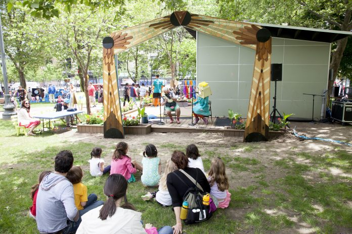 THE DOWNTOWN PROVIDENCE Parks Conservancy was awarded a $100,000 grant for new amenities and upgrades at the Imagination Center in Burnside Park. / COURTESY DOWNTOWN PROVIDENCE PARKS CONSERVANCY