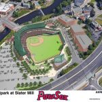 GOV. GINA M. RAIMONDO has signed legislation authorizing the financing structure to pay for a new ballpark for the Pawtucket Red Sox, more than three years after the team first announced its intention to replace McCoy Stadium. Now the city must finalize the deal with the team. / COURTESY PAWTUCKET RED SOX