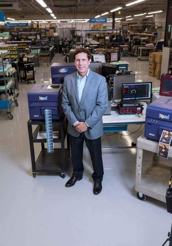 ASTRONOVA REPORTED a fiscal year 2019 first-quarter profit of $814,000 and a revenue of $31.5 million. President and CEO Gregory A. Woods said the company expects continued growth following the acquisition of the Honeywell Aerospace printer product line. PBN FILE PHOTO/ MICHAEL SALERNO