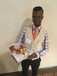 Jesse Jackson III of Fedora Doughnuts was one of five entrants in the inaugural Millrace Kitchen business plan competition hosted by NeighborWorks Blackstone River Valley. / COURTESY NEIGHBORWORKS BLACKSTONE RIVER VALLEY