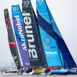 VESTAS 11TH HOUR Racing finished firth in the Cardiff stopover in-port race. / VOLVO OCEAN RACE/JESUS RENEDO