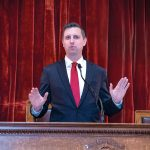 THE RHODE ISLAND state worker pension fund returned 8.03 percent in fiscal 2018 and was worth $8.3 billion on June 30, 2018. General Treasurer Seth Magaziner chairs the State Investment Commission that oversees the pension fund's investments. / PBN FILE PHOTO/MICHAEL SALERNO