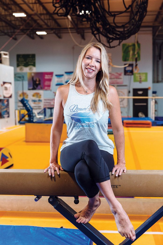 Shannon Hughey Cornicelli opened her first gym in Rhode Island with 10 members in 2008. Today she owns three 10,000-square-foot gymnastics facilities and is developing a custom athletic apparel business, as well as managing events. / PBN PHOTO/Rupert Whiteley