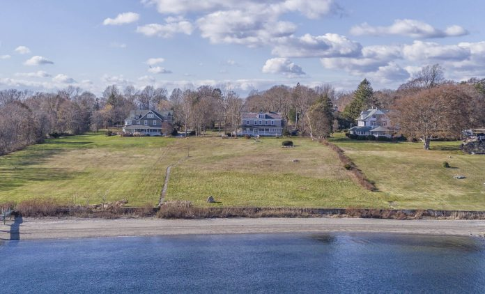 1090 WARWICK NECK Ave., Warwick, the house in the center of the photograph, sold for $1.6 million. / COURTESY MOTT & CHACE SOTHEBY'S INTERNATIONAL REALTY