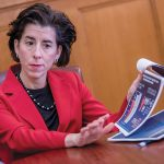 GOV. GINA M. RAIMONDO expects to raise and spend millions of dollars more than her opponents in the gubernatorial race. / PBN FILE PHOTO/ MICHAEL SALERNO