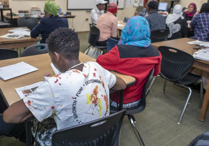 A WELCOMING RESOURCE: Dorcas International Institute of Rhode Island held its Community Resource Day recently, inviting immigrants and refugees to learn about the center and the state, and to make their transitions to life in the United States smoother. / PBN FILE PHOTO/MICHAEL SALERNO