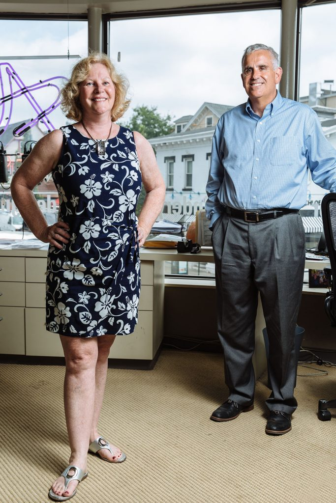 NEW ADVENTURE: Wanting to venture out on their own, Bud and Karen McCann purchased the Allegra Marketing – Print – Mail location in Providence last year. The commercial printer provides mailing services and promotional items as well as creates signs and banners.