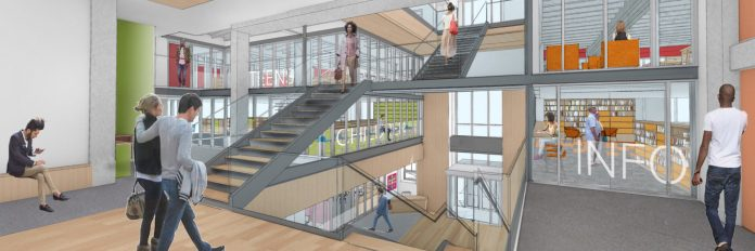 THE PROVIDENCE PUBLIC LIBRARY announced a $25 million renovation project to its downtown Providence building and a capital campaign to fund it. / COURTESY PROVIDENCE PUBLIC LIBRARY