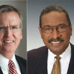 Michael McNally, left, a retired senior executive for Skanska, and Michael S. Van Leesten, right, the CEO of OIC of Rhode Island Inc., have joined the Interstate 195 Redevelopment District Commission. / COURTESY INTERSTATE 195 REDEVELOPMENT DISTRICT COMMISSION