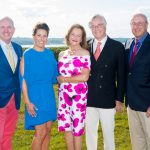 Nearly $1 million was raised at the July 12 annual Newport Hospital fundraiser. Pictured from left to right are: Dr. Timothy J. Babineau, Lifespan president and CEO; Crista F. Durand, Newport Hospital president; Norey Dotterer Cullen; Peter Walsh; and Peter Capodilupo, Newport Hospital Foundation board of trustees chairman. / PHOTO BY ANDREA HANSEN / COURTESY NEWPORT HOSPITAL