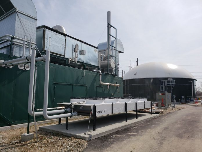 WHILE LICENSED TO OPERATE, the anaerobic digester located at the Central Landfill in Johnston and built by Blue Sphere Corp., is still not operating anywhere near full capacity, citing issues with cold winter weather. / COURTESY BLUE SPHERE CORP.