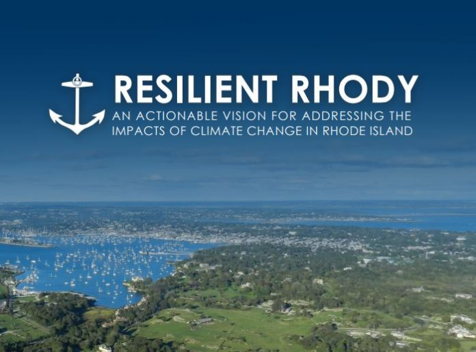RESILIENT RHODY is the state's first climate resilience action strategy. It identifies 61 steps the state can take to better prepare for the effects of climate change. / COURTESY OFFICE OF GOV. GINA M. RAIMONDO