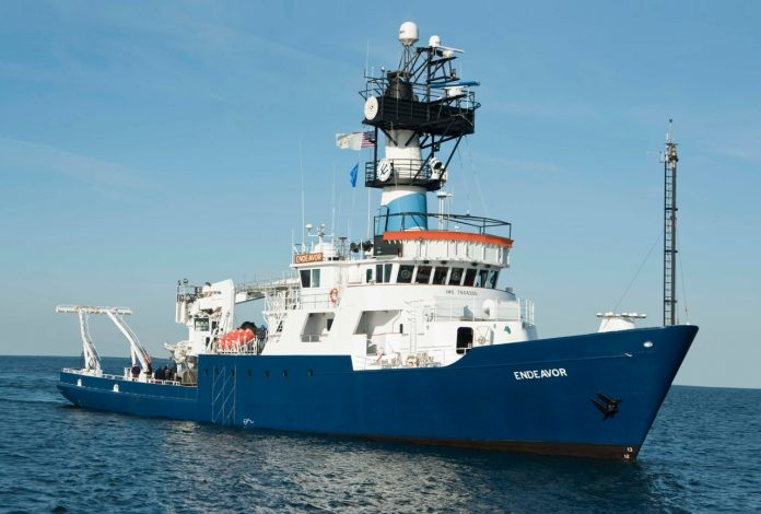 THE UNIVERSITY of Rhode Island's research vessel Endeavor left Thursday for six days of marine research. COURTESY URI INNER SPACE CENTER