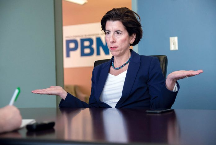 DOING THE RIGHT THING? Gov. Gina M. Raimondo is proposing an expansion of the Rhode Island Promise college scholarship program. The major question is, will the General Assembly support the proposal? / PBN PHOTO/MICHAEL SALERNO